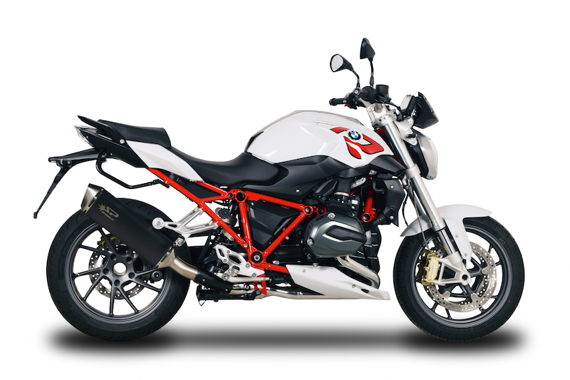 SPARK EXHAUST スパーク マフラー フォーススリップオンサイレンサー ダークスタイル【Force Slip-On Dark Style】 R 1200 R RS (15-16)
