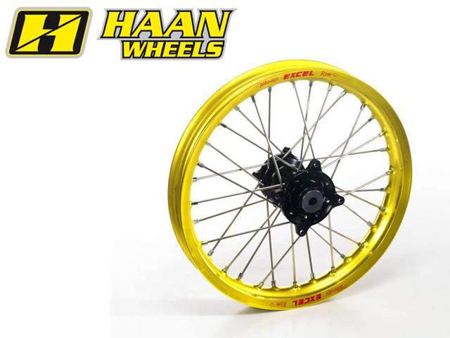 HAAN WHEELS ハーンホイール ホイール本体 フロントモタードコンプリートホイール F2.50/17インチ カラー:チタン カラー:ブラック CR 85 (96-09)