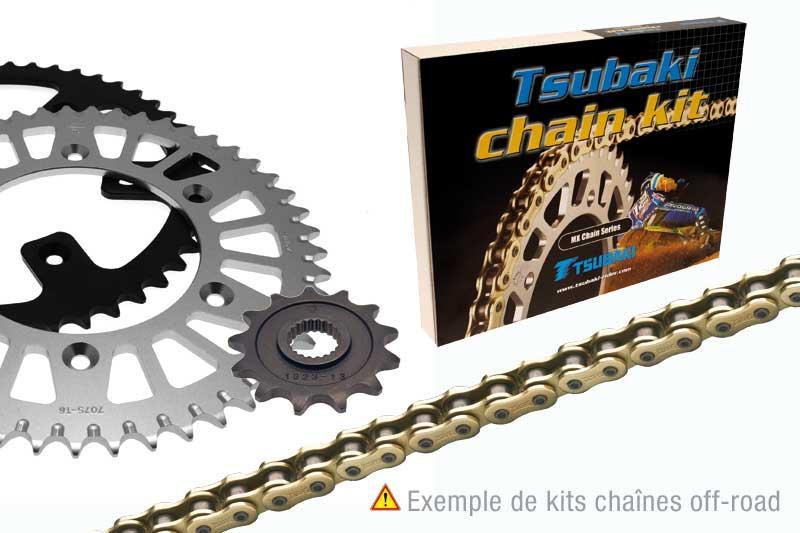 ツバキ TSUBAKI チェーンキット KAWASAKI KX125 (520タイプ MX)【Tsubaki Chain kit KAWASAKI KX125 (520 MX type)】【ヨーロッパ直輸入品】 13 46