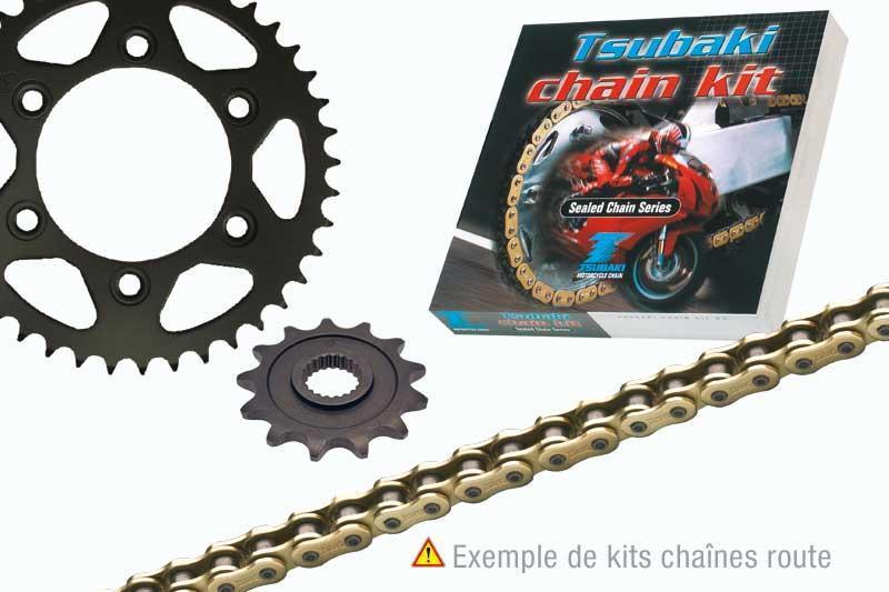 ツバキ チェーン Tsubaki Chain Kit (525-type OMEGA ORS)【ヨーロッパ直輸入品】 14 43 YBR125 (125) 07-12