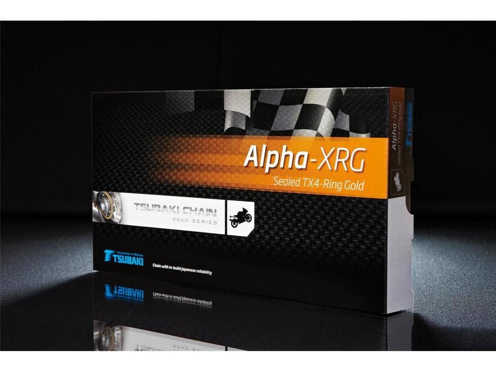 TSUBAKI ALPHA 2 XRG トランスミッションチェーン 525 110リンク ゴールド/ブラック【Tsubaki transmission chain 525 ALPHA 2 XRG gold / black 110 links】【ヨーロッパ直輸入品】