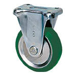 TRUSCO トラスコ中山 工業用品 シシク スタンダードプレスキャスター ウレタン車輪 固定 300径