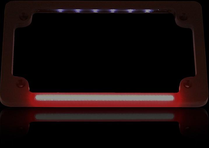 CUSTOM DYNAMICS カスタムダイナミックス ナンバープレートフレーム デュアル ブラック 【FRAME LP DUAL BLACK [2030-0991]】