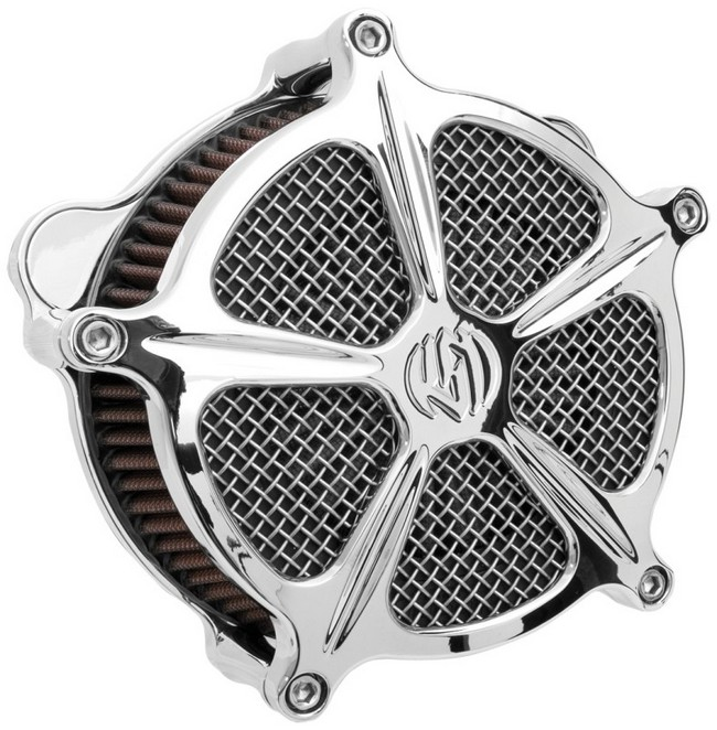 RSD Roland Sands Design ローランドサンズ エアクリーナー・エアエレメント エアクリーナー Venturi Speed 5 仕上り:クロム BIGTWIN [ビッグツイン] S&S E/G キャブ用 93-12