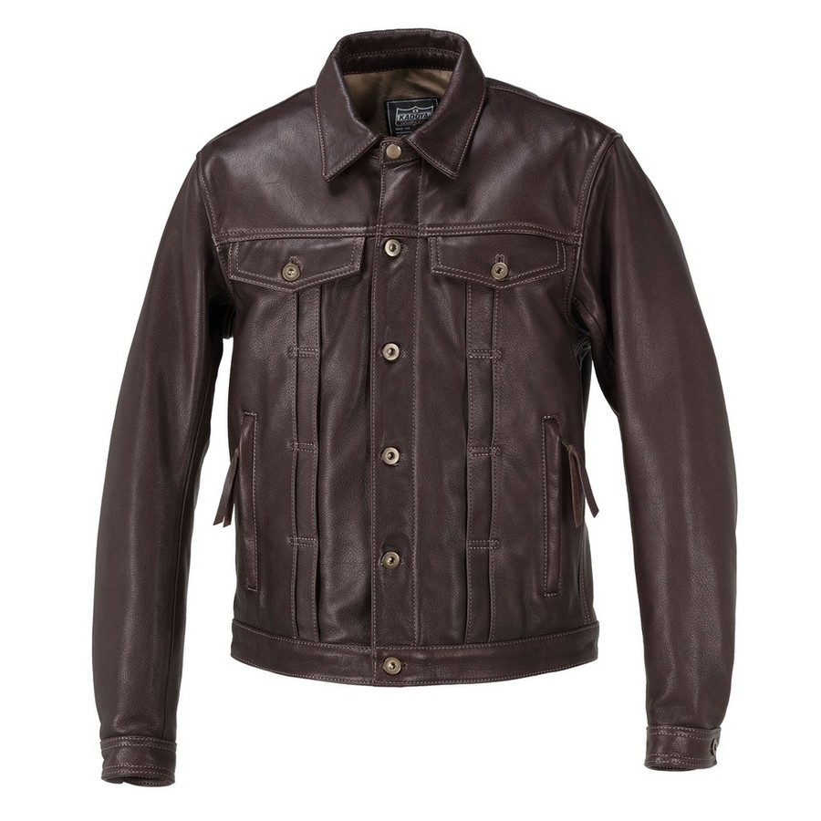 KADOYA カドヤ DT-LEATHER JAC(DENIM TRUCKER) [K'S LEATHER] レザージャケット