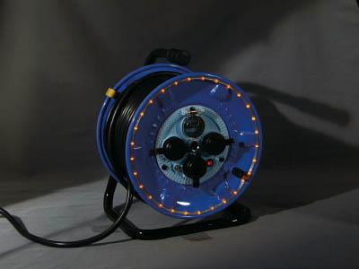 TRUSCO トラスコ中山 TOP 日動 防雨型電工ドラム LEDラインドラム 赤