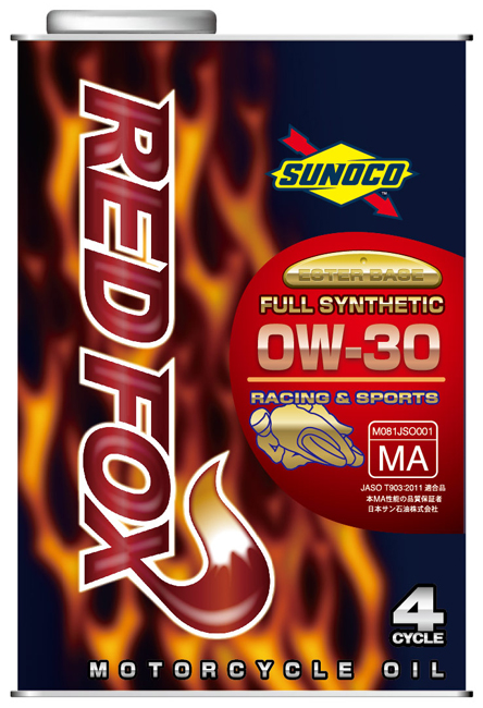 SUNOCO スノコ RED FOX [レッドフォックス] 0W-30 全合成オイル