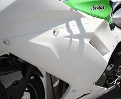 Magical Racing マジカルレーシング サイドカバー サイドカウル 素材:FRP製・白 ニンジャ250