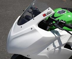 Magical Racing マジカルレーシング アッパーカウル 素材:FRP製・白 NINJA250 [ニンジャ250] 13-