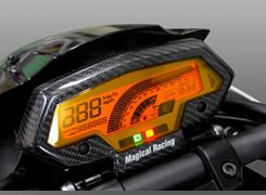 Magical Racing マジカルレーシング その他メーター関連 メーターカバー 素材:綾織りカーボン Z1000(水冷) 10