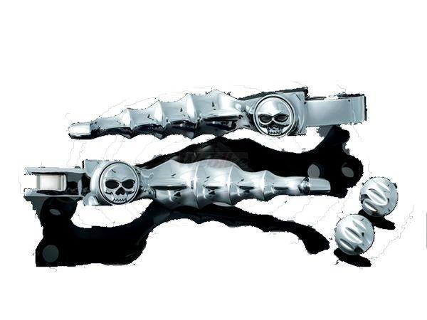 Kuryakyn クリアキン Zombie レバー(クロム) 汎用 ケーブルクラッチ付きモデル 96-12
