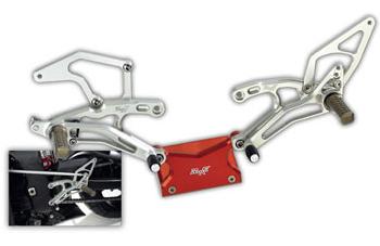 Robby Moto Engineering ロビーモトエンジニアリング バックステップ スタンダードモデル 逆チェンジ専用 カラー:シルバー GSX-R1000(09-14)