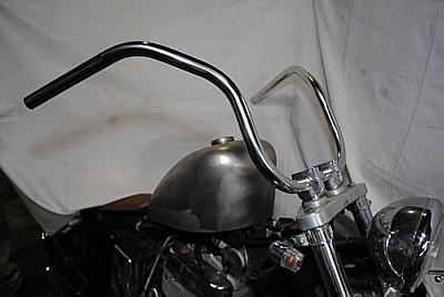 部品屋K&W ハンドルバー シックスベンドバー タイプB サイズ:7/8インチ バルカン400 バルカンクラシック400