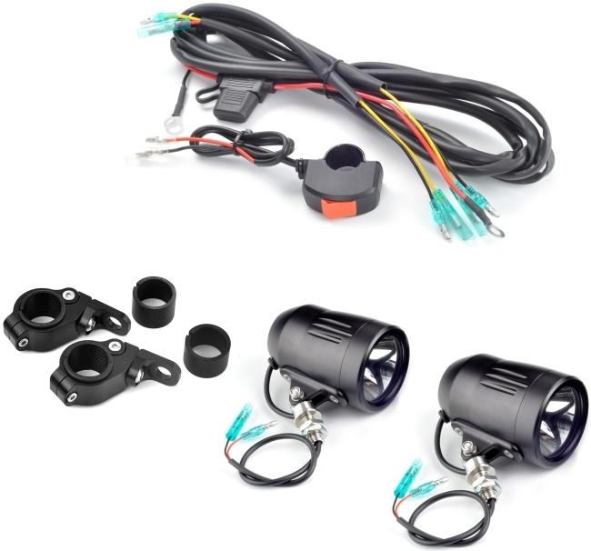 TrailTech トレイルテック その他灯火類 Equinox LED 60mmビレットライト+ワイヤハーネス+スイッチ+マウントクランプのキット F650GS