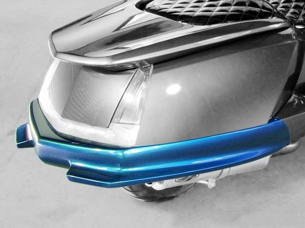 WARRIORZ ウォーリアーズ スクーター外装 マグザム用 リアバンパースポイラー タイプG カラー:ビビッドレッドカクテル1 MAXAM [マグザム] (SG17J/SG21J)