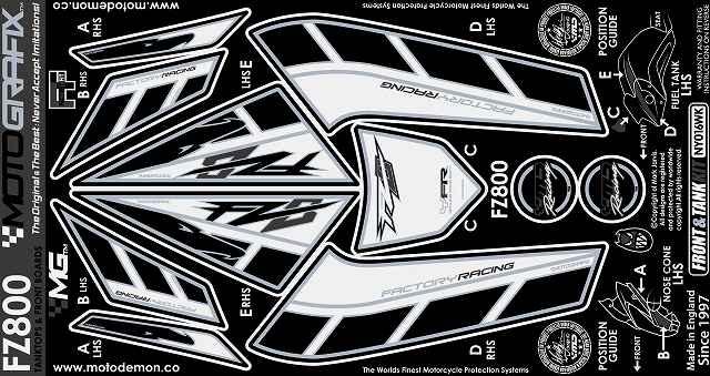 MOTOGRAFIX モトグラフィックス ステッカー・デカール ボディーパッド FAZER8(10-) FZ8