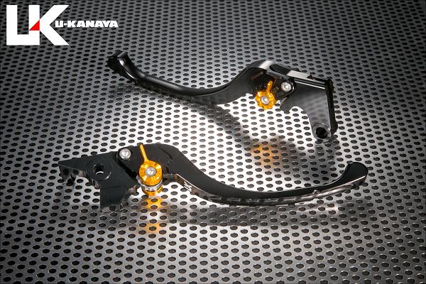 U-KANAYA ユーカナヤ ツーリングタイプ アルミビレットレバーセット アジャスターカラー:ブルー レバーカラー:ブラック CB400スーパーフォア CB400スーパーボルドール