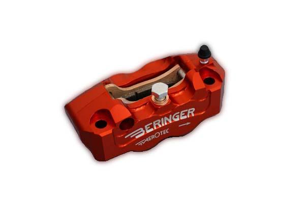 BERINGER ベルリンガー 4Pラジアルキャリパー 右用 オレンジ CBR1000RR(04-14) GSX1300R HAYABUSA[ハヤブサ](08-14) MT-09(13-14) ZZR1400 [ZX-14](06-14)