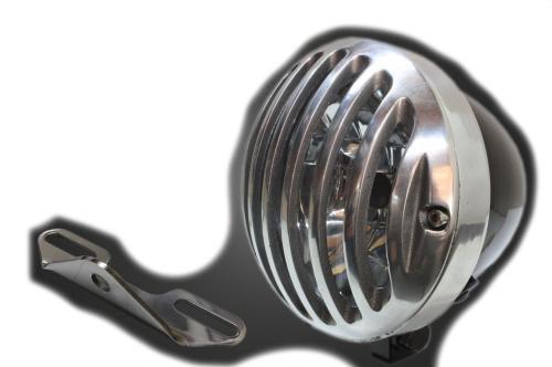 ガレージT&F ヘッドライト本体・ライトリム/ケース 4.5インチバードゲージヘッドライト&ライトステー(タイプB)キット バードゲージカバー:ポリッシュ仕上げ ヘッドライト:ブラック仕上 バルカンクラシック400