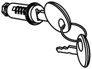 SHADシャッド その他トップケーステールボックスオプション補修部品 SHADトップケース用キーシリンダー シャッド SHAD 上品 汎用 正規激安