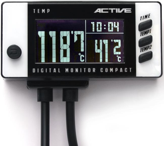 ACTIVE アクティブ デジタルモニター デュアルテンプメーター