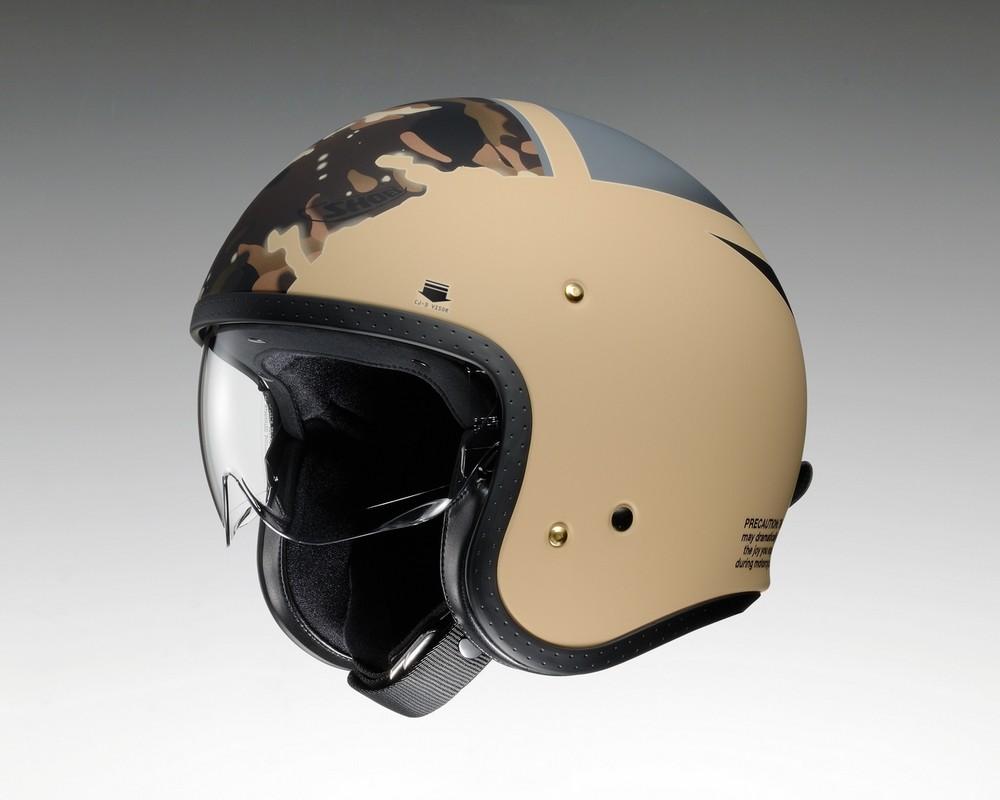 【在庫あり】【イベント開催中!】 SHOEI ショウエイ ジェットヘルメット J・O SEAFIRE [ジェイ・オー シーファイアー TC-10 KHAKI/GREY マットカラー] ヘルメット サイズ:M(57cm)