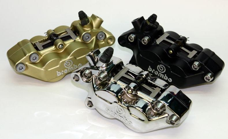 ミスミエンジニアリング MISUMI ENGINIEERING ブレンボ キャスティング 4POTキャリパー カラー:ブラックアルマイト 左側