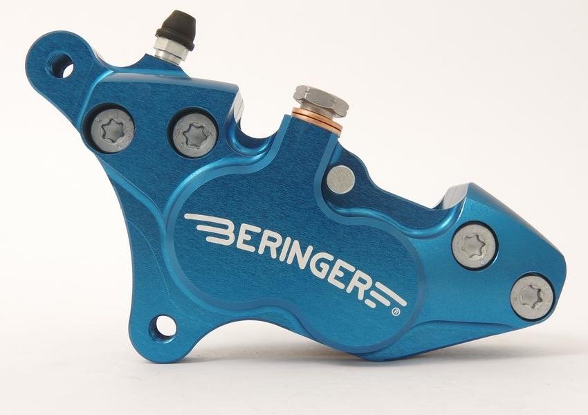 BERINGER ベルリンガー 4ピストンキャリパー カラー:ブルー SR400(01-17)