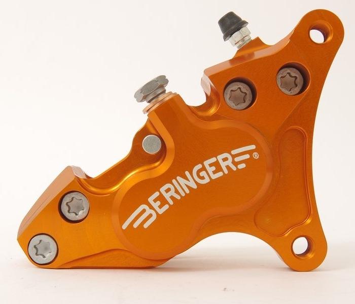 BERINGER ベルリンガー 4ピストンキャリパー カラー:オレンジ SR400(01-17)
