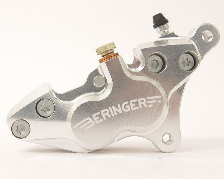 BERINGER ベルリンガー 4ピストンキャリパー カラー:シルバー SR400(01-17)