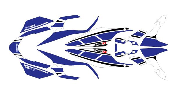 MDF エムディーエフ 車種別グラフィックデカールキット MT07 ストロボ ブルー MT-07