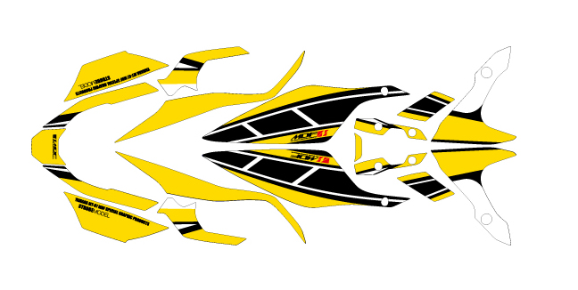 MDF エムディーエフ ステッカー・デカール 車種別グラフィックデカールキット MT07 ストロボ パンプキンイエロー タイプ:コンプリート(フルセット) MT-07