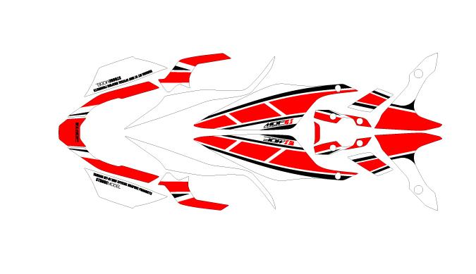 MDF エムディーエフ ステッカー・デカール 車種別グラフィックデカールキット MT07 ストロボ 車体色レッド推奨カラー タイプ:コンプリート(フルセット) MT-07