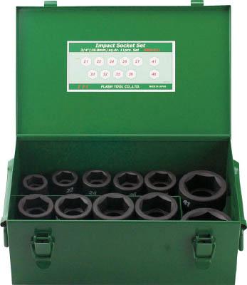 TRUSCO トラスコ中山 工業用品 FPC インパクト ショートソケット セット 差込角19.0mm 11pc