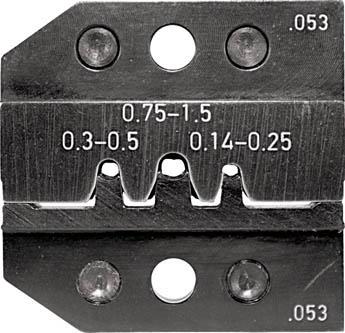 TRUSCO トラスコ中山 工業用品 RENNSTEIG 圧着ダイス 624-053 ピンコンタクト0.14-1.5