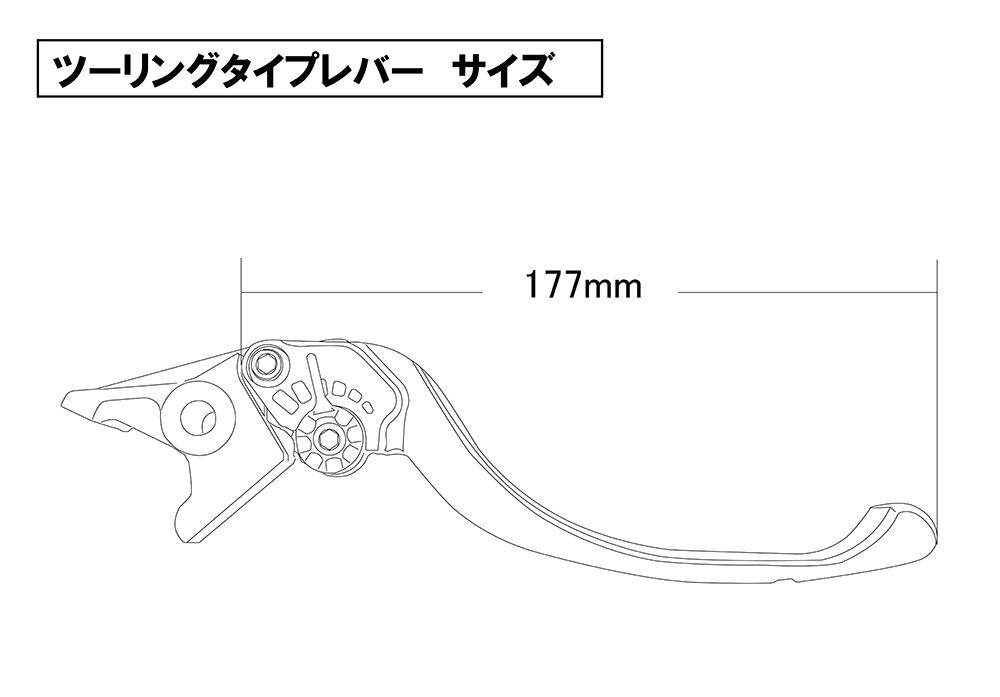 U-KANAYAユーカナヤツーリングタイプアルミビレットレバーセットアジャスターカラー:マットグリーンレバーカラー:マットブラック