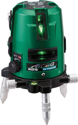 TRUSCO トラスコ中山 工業用品 KDS グリーンレーザー墨出器スーパーレイ45受光器・三脚付