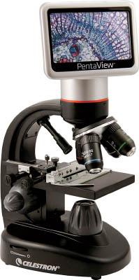 TRUSCO トラスコ中山 工業用品 CELESTRON 液晶モニタ搭載LCDデジタル顕微鏡TETRAVIEW