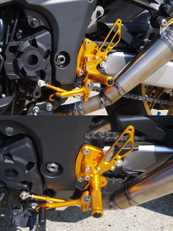 BABYFACE ベビーフェイス バックステップキット 逆チェンジモデル カラー:シルバー Z1000/Ninja1000 RaceShift 10-14