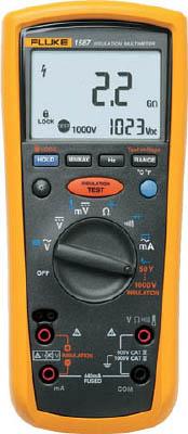 TRUSCO トラスコ中山 工業用品 FLUKE デジタル・マルチメーター付絶縁抵抗計(5レンジ)