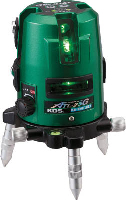 TRUSCO トラスコ中山 工業用品 KDS グリーンレーザー墨出器スーパーレイ25G受光器・三脚付