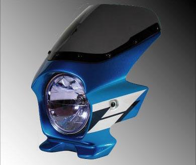 N PROJECT Nプロジェクト エヌプロジェクト ビキニカウル・バイザー ブラスターII エアロスクリーン カラー:グリントウェーブブルーメタリック(ウイングライン/複色仕上げ) グラフィック:なし スクリーンカラー:クリア CB1300SF