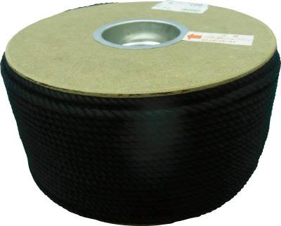 TRUSCO トラスコ中山 工業用品 ユタカ ポリエステルロープ ドラム巻 5φ×200m 黒