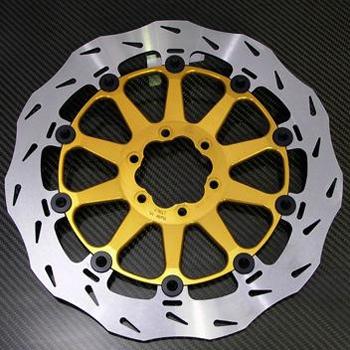 ALTH アルト ディスクローター フローティング ステラ フロント ブレーキディスク インナーフランジカラー:ゴールド 左用