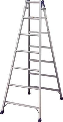 TRUSCO トラスコ中山 工業用品 ハセガワ アルミはしご兼用脚立 標準タイプ RD型 7段