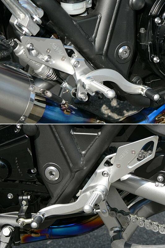 BEET ビート ハイパーバンク バックステップ カラーオーダー カラー:レッド ZRX1100 ZRX1100II ZRX1200R ZRX1200S ZRX1200ダエグ