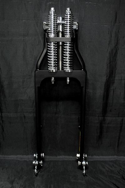 部品屋K&Wフロントフォークスプリンガーフォークキットカラー:ブラックグラストラッカービッグボーイ