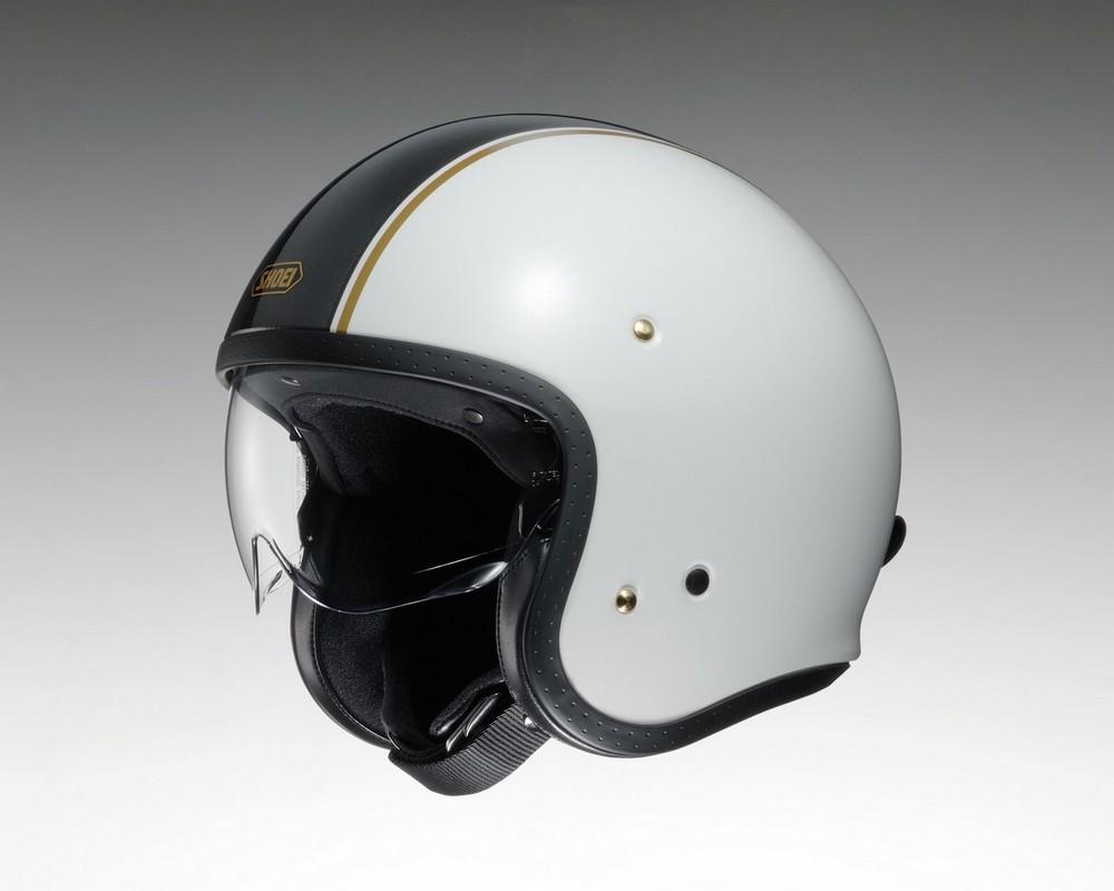 SHOEI ショウエイ ジェットヘルメット J・O CARBURETTOR [ジェイ・オー キャブレター TC-6 WHITE/BLACK] ヘルメット サイズ:L (59cm)