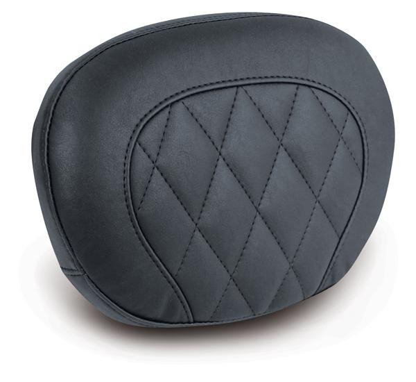 "MUSTANG マスタング バックレスト・グラブバー タンデムバックレストパッド 12インチ×9インチ ダイヤモンドステッチ付き (Diamond Stitch Passenger Backrest Pad 12""×9"") カラー:Black"