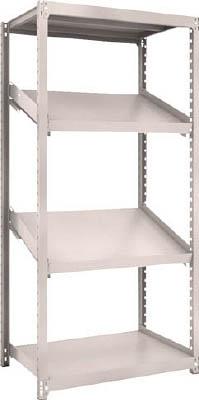 トラスコ中山 工業用品 TRUSCO M2型棚 900X600XH1800 4段 傾斜2段